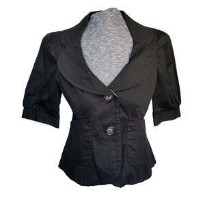 Anthropologie Elevenses Short Sleeve Blazer 10